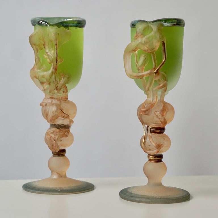 Hollywood Regency Ornamental Glasses by Tamaian For Sale
