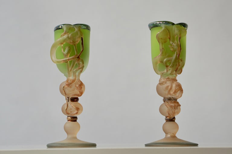 Romanian Ornamental Glasses by Tamaian For Sale