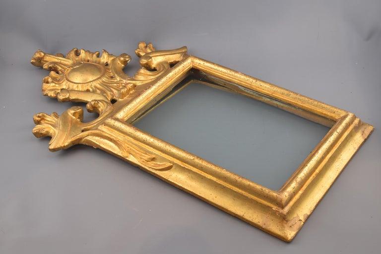 Rococo Ornamental Mirror Frame, Giltwood, 18th Century For Sale