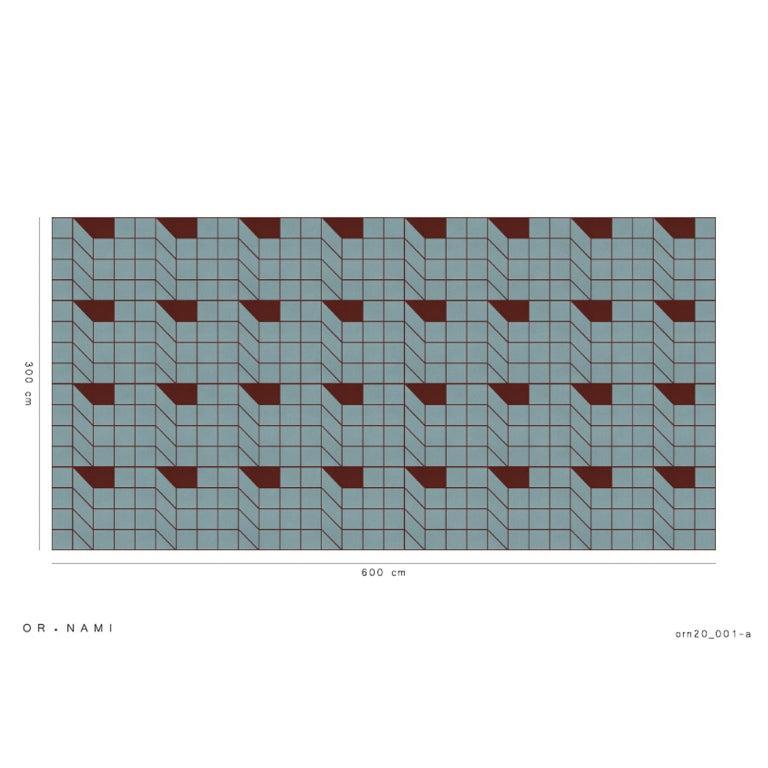 Ornami Architecture Pattern Vinyl Wallpaper Made in Italy Digital Printing In New Condition For Sale In reggio emilia, IT