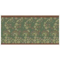 Ornami Art Nouveau Green Vinyl Wallpaper Made in Italy Digital Printing