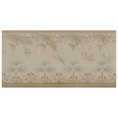 Ornami Art Nouveau Parrots Vinyl Wallpaper Made in Italy Digital Printing