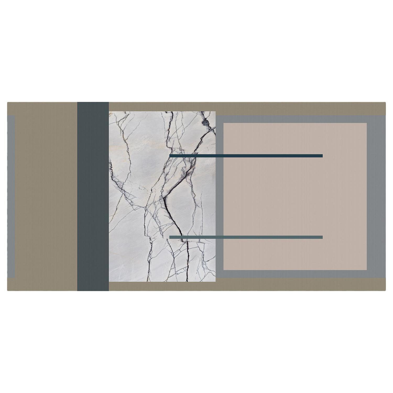 Ornami Marble Geometric Pattern Vinyl Wallpaper Made in Italy Digital Printing