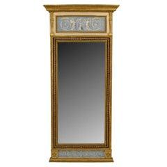 Ornate 19th c. Swedish Neoclassic Gilt Mirror