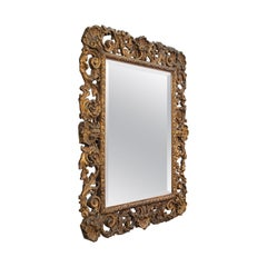 Ornate Antique Mirror, French, Giltwood, Hall, Overmantel, Edwardian, circa 1910