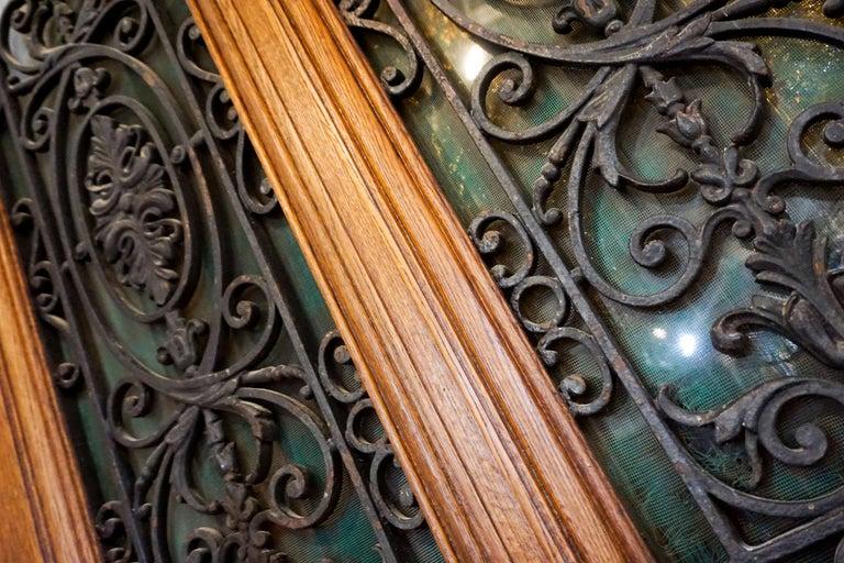 French Ornate Antique Oak Door For Sale