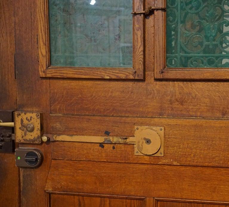 19th Century Ornate Antique Oak Door For Sale