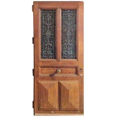 Ornate Antique Oak Door