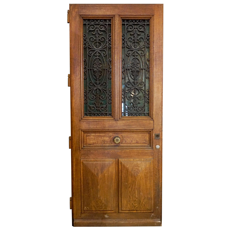 Ornate Antique Oak Door