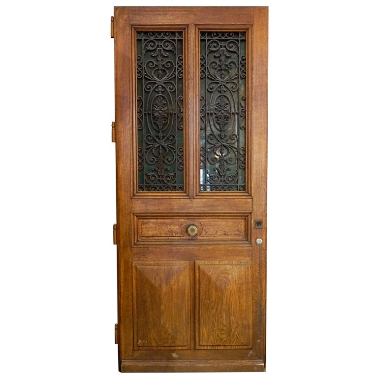 Ornate Antique Oak Door For Sale