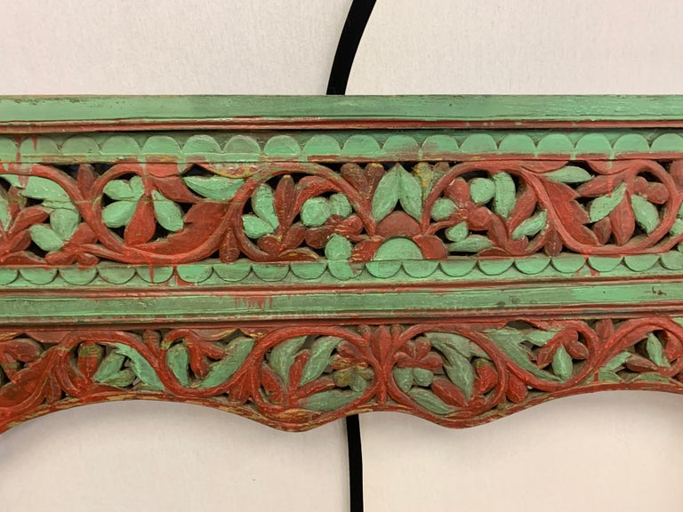 Ornate Balinese King Size Hand Carved Sculptural Headboard For Sale 5