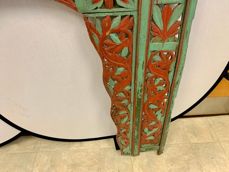 Ornate Balinese King Size Hand Carved Sculptural Headboard For Sale 6