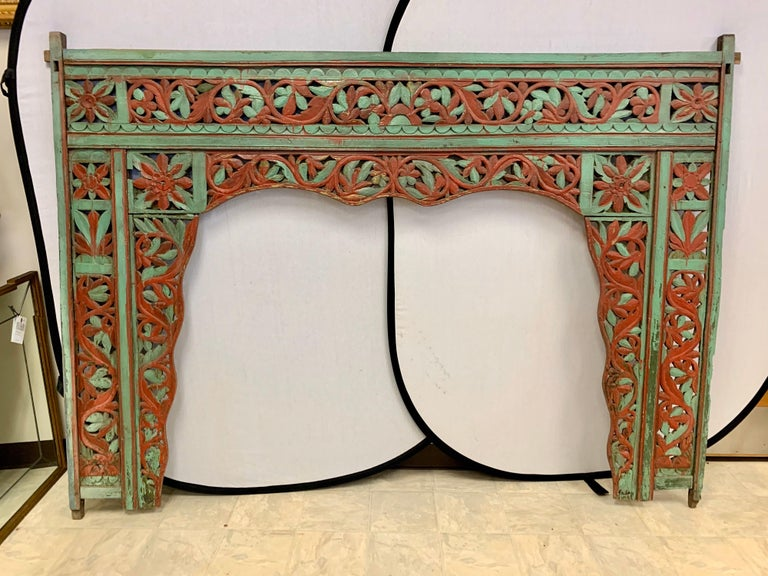 Ornate Balinese King Size Hand Carved Sculptural Headboard For Sale 9
