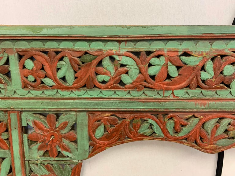 Ornate Balinese King Size Hand Carved Sculptural Headboard For Sale 2