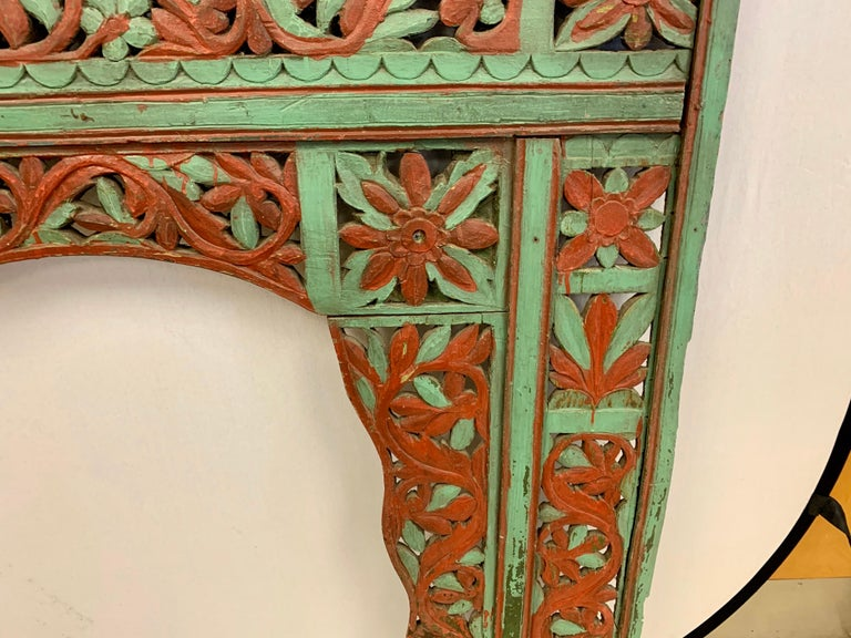 Ornate Balinese King Size Hand Carved Sculptural Headboard For Sale 3