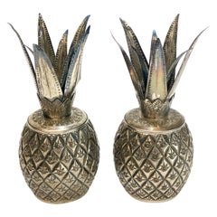 Ornate Continental Silver Pineapple Form Boxes
