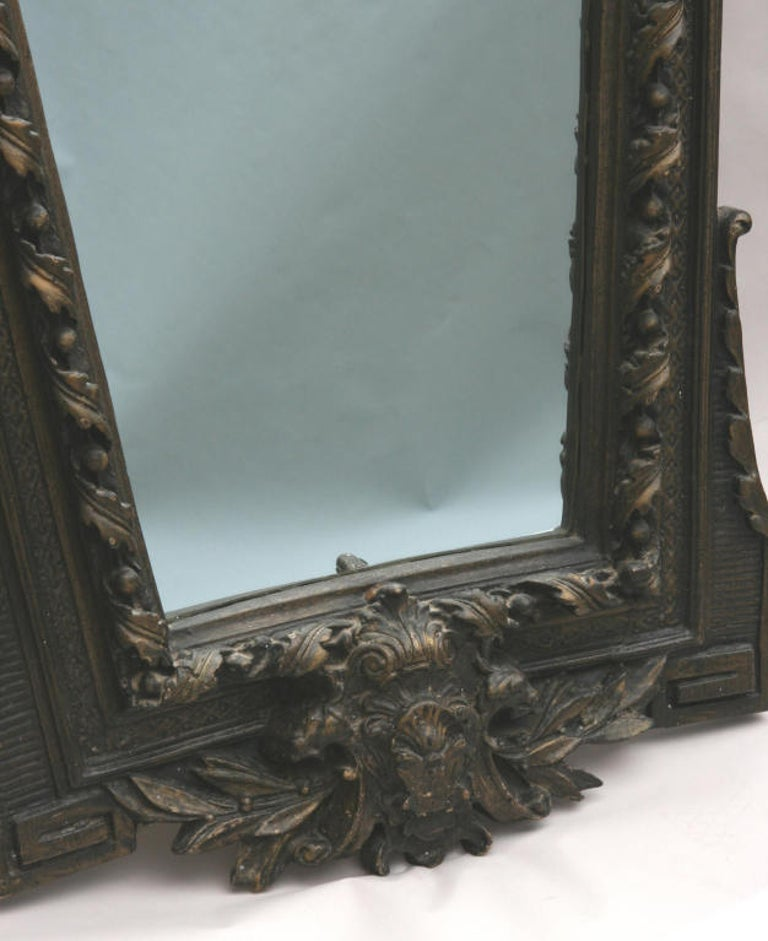 Mid-20th Century Architectural  Italian Oversized Mirror For Sale