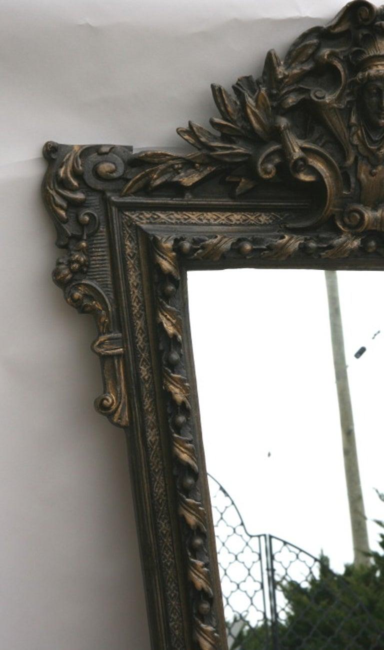 Architectural  Italian Oversized Mirror For Sale 1