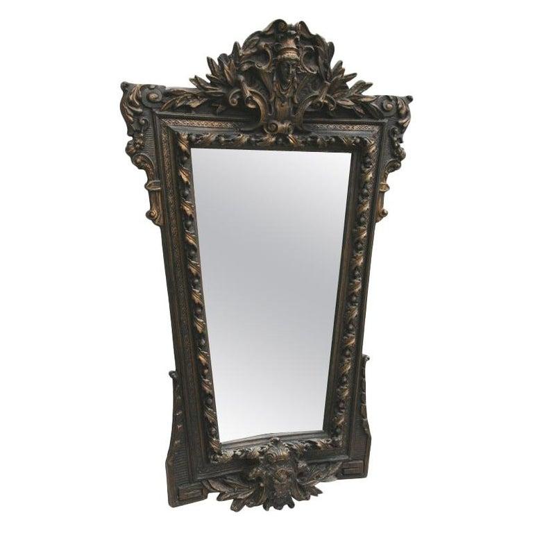 Architectural  Italian Oversized Mirror For Sale