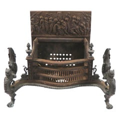 Ornate Fireplace Insert Coal Grate by Wm. Jackson