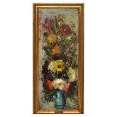 Ornate Gilt Framed Oil Painting Floral Bouquet Still Life Signed G. Boncinelli