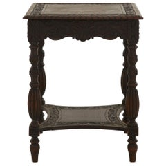 Ornate Hand Carved Side Table