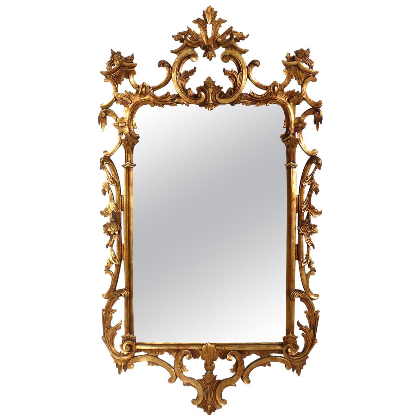 Ornate Italian Gilt Mirror