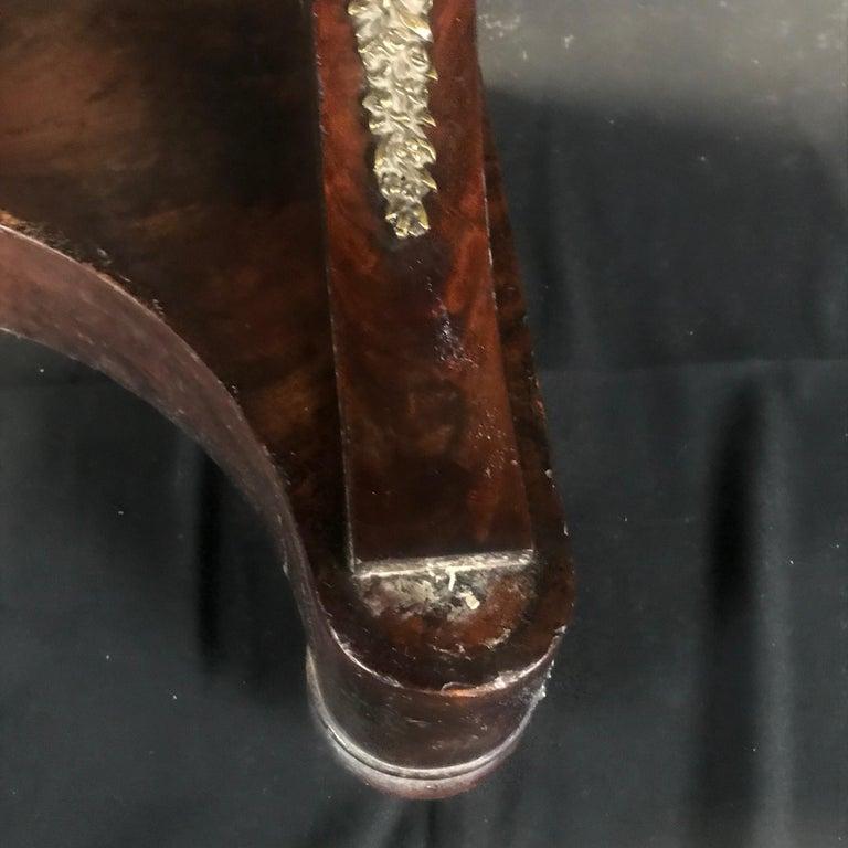 Ornate Lavish Charles X Mahogany Empire Dressing Table For Sale 7