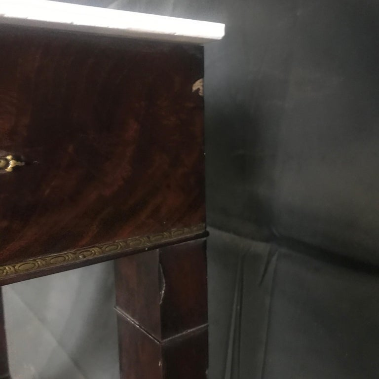 Ornate Lavish Charles X Mahogany Empire Dressing Table For Sale 8