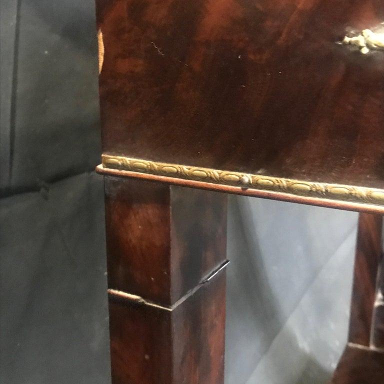Ornate Lavish Charles X Mahogany Empire Dressing Table For Sale 4