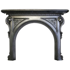Ornate Mid-19th Century Victorian Cast Iron Fire Surround