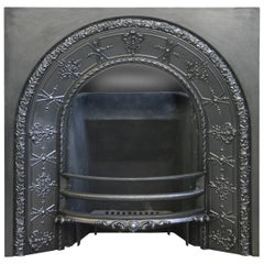 Ornate Mid-Victorian Arched Fireplace Grate