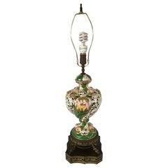Ornate Porcelain Table Lamp Made in Italy