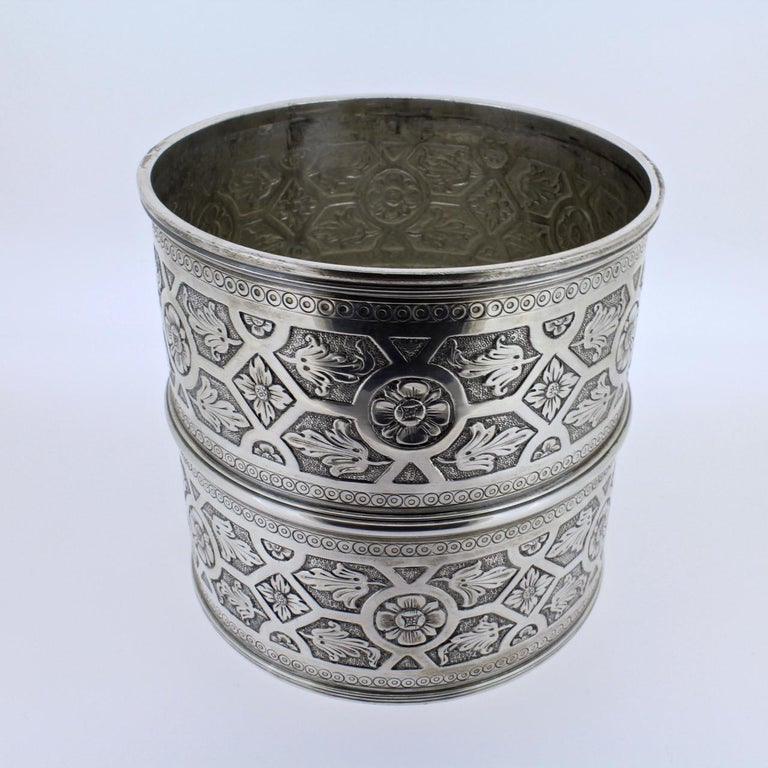 Ornate Sarmento Portuguese Solid Silver Covered Dresser Box or Humidor For Sale 1