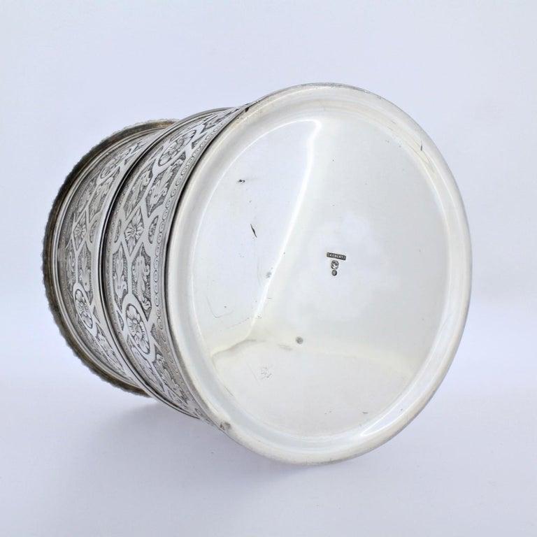 Ornate Sarmento Portuguese Solid Silver Covered Dresser Box or Humidor For Sale 3