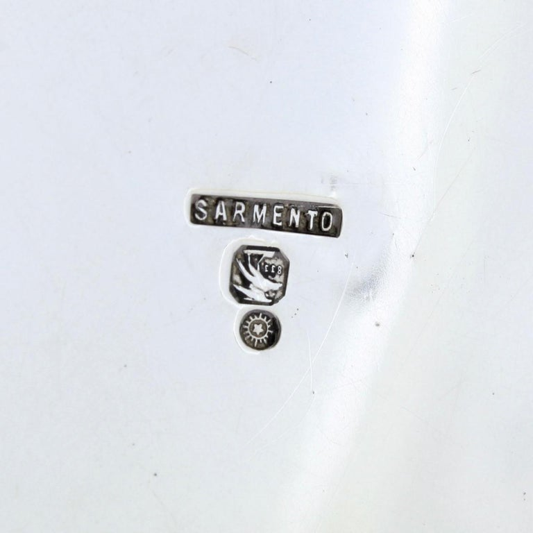 Ornate Sarmento Portuguese Solid Silver Covered Dresser Box or Humidor For Sale 4