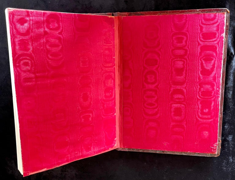 Ornate Sterling Silver Book Cover Photo Scrap Album w Red Leather Interior For Sale 7