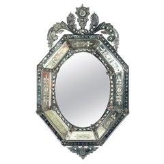 Ornate Venetian Mirror, circa 1940s