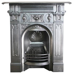 Ornate Victorian Cast Iron Combination Fireplace Grate