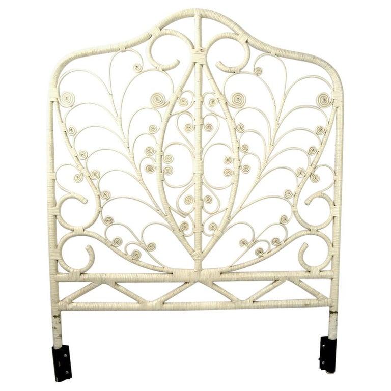 Ornate White Wicker Headboard For Sale At 1stdibs