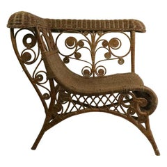 Ornate Wicker Corner Chair