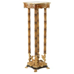 Ornately Gilt Bronze Mounted / Fruitwood Pedestal Table