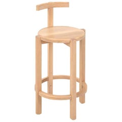 ORNO Contemporary Bar Stool in Solid Hardwood by Ries