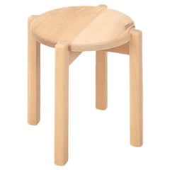 ORNO Contemporary Low Stool in Solid Hardwood by Ries