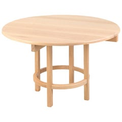 ORNO Contemporary Round Dining Table in Solid Hardwood by Ries