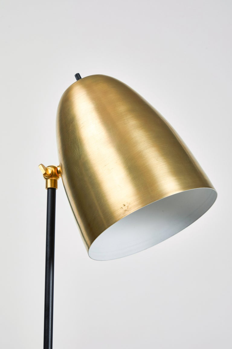 'ORO' Brass and Metal Floor Lamp For Sale 4