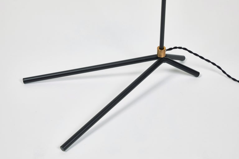 'ORO' Brass and Metal Floor Lamp For Sale 5