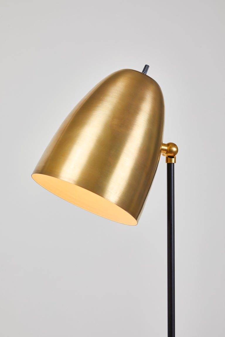 'ORO' Brass and Metal Floor Lamp For Sale 2