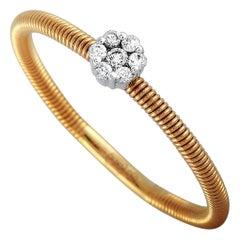 Oro Trend 18 Karat Rose and White Gold 0.06 Carat Diamond Ring