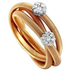 Oro Trend 18 Karat Rose and White Gold 0.22 Carat Diamond Ring